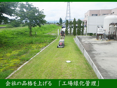 会社の品格を上げる「工場緑化管理」