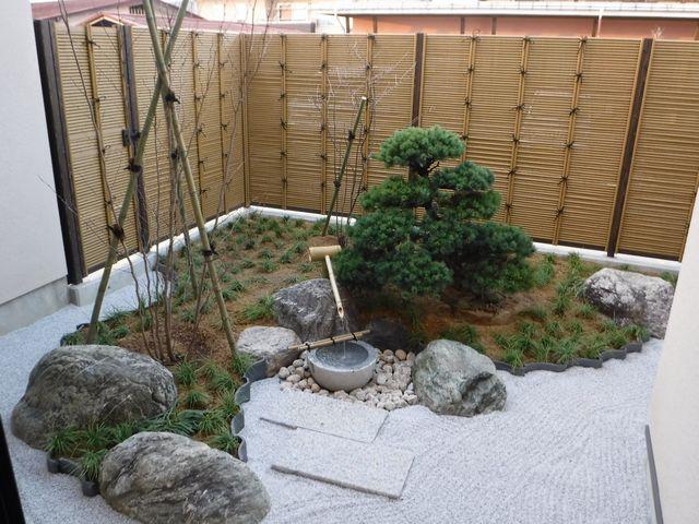 東根市I様邸の坪庭、完成しました。
