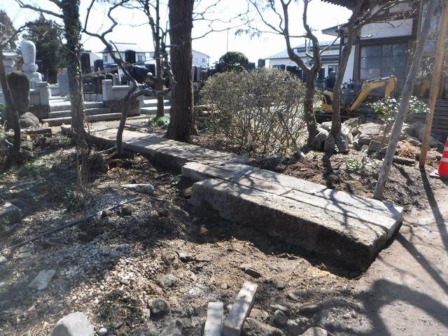 天童市の菩提寺の庭園改修工事。(その2)