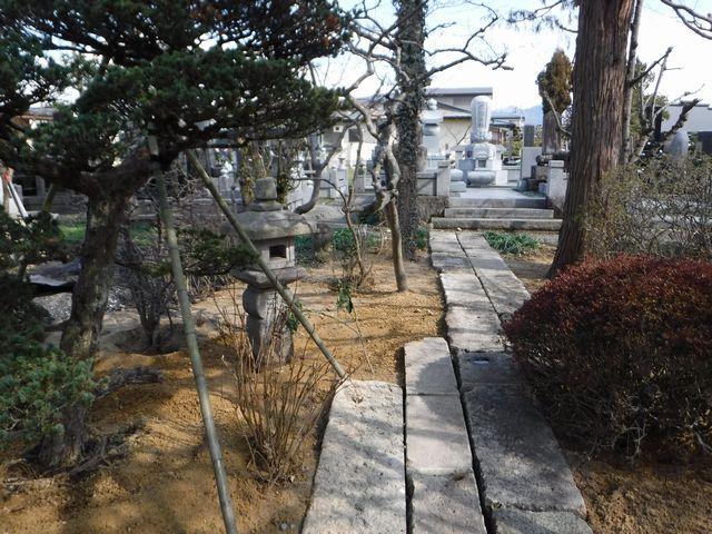 天童市の菩提寺の庭園改修工事。(その3)