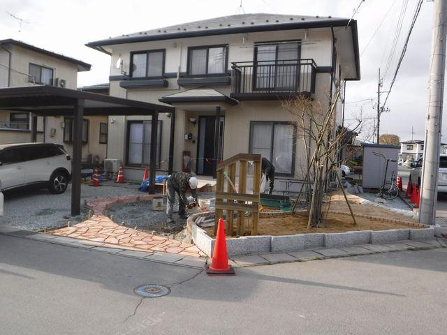 天童市K様邸のガーデニングの続き。