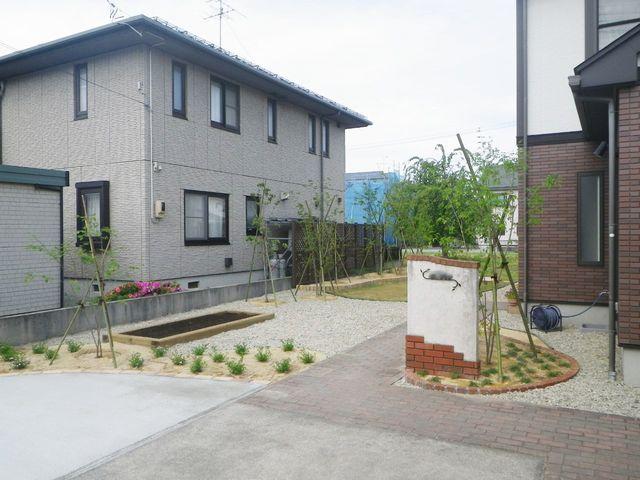 村山市O様邸のガーデニング、完成しました。