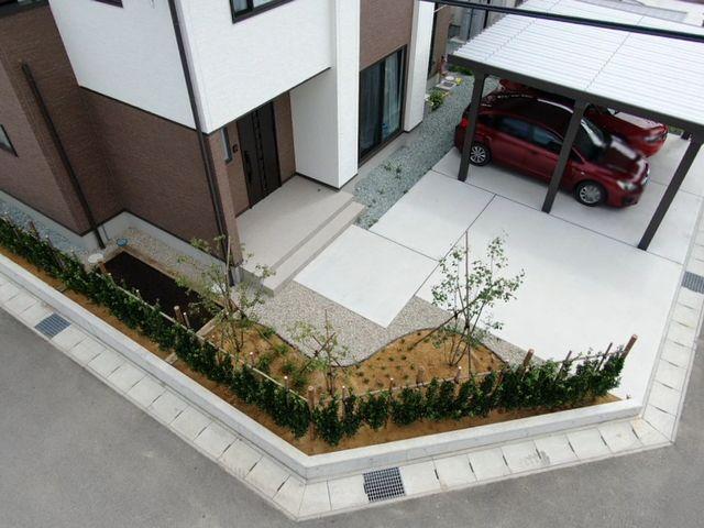東根市O様邸のガーデニング、完成しました。