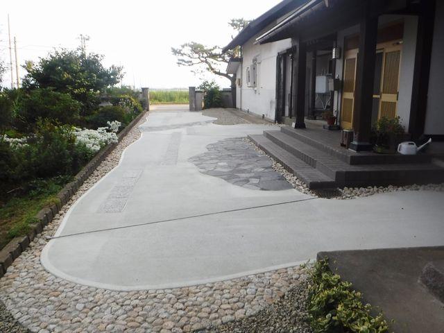 村山市I様邸のアプローチ工事の改修、完了しました。