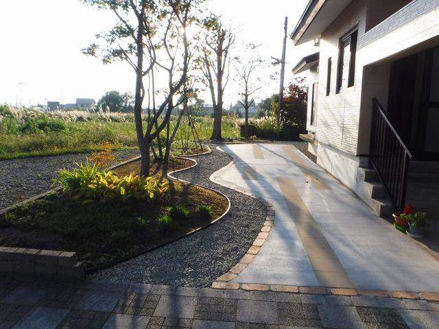 新庄市T様邸のリ・ガーデン完成しました。