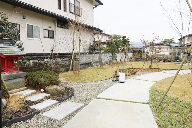 中山町M様邸のガーデニング完成しました。