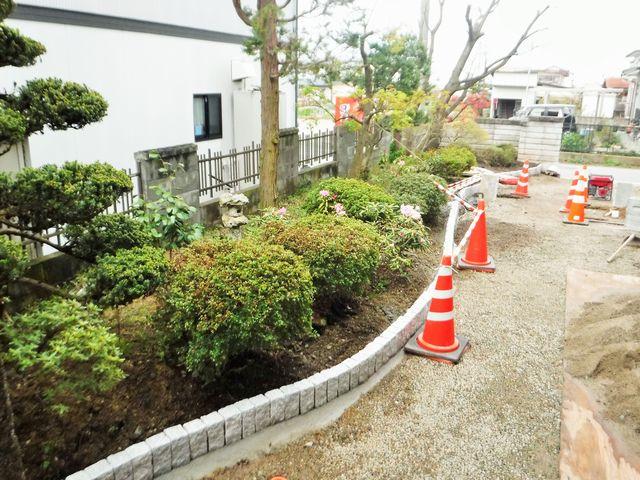 天童市のS様邸の庭園改修の続き