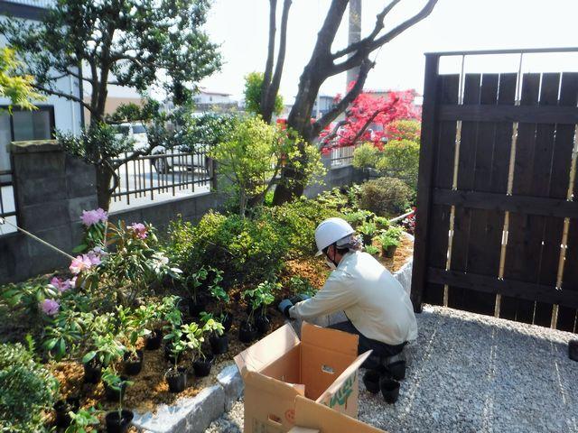 天童市S様邸の造園改修工事の続き