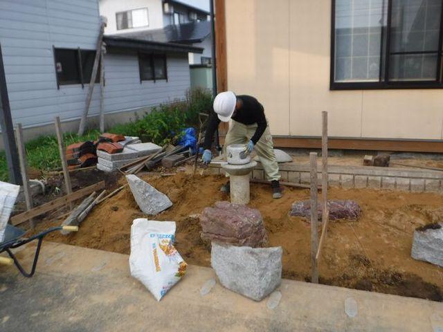 高畠町の菅野魚店さんの作庭
