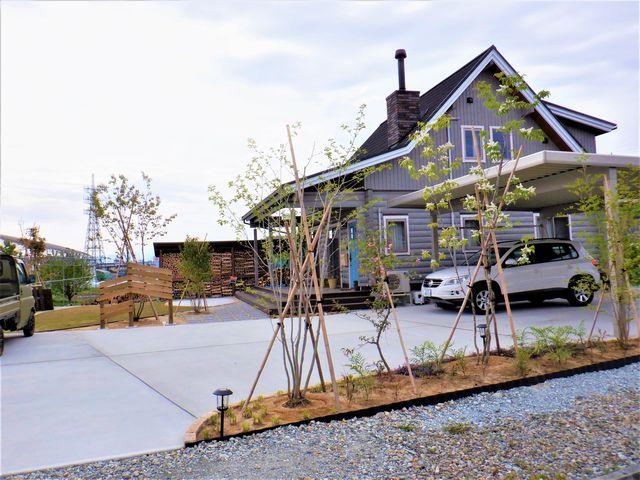 天童市H様邸のガーデニングはほぼほぼ完成しました。